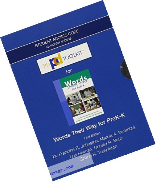 PDToolKit -- Standalone Access Card -- for Words Their Way for PreK-K (Words Their Way Series)