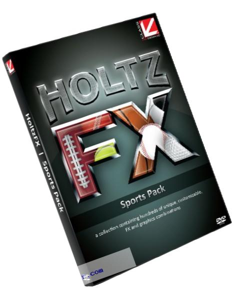 Class on Demand: HoltzFX Sports Pack DVD-ROM - Professional Looking Sports Programs Made Easy! 99911