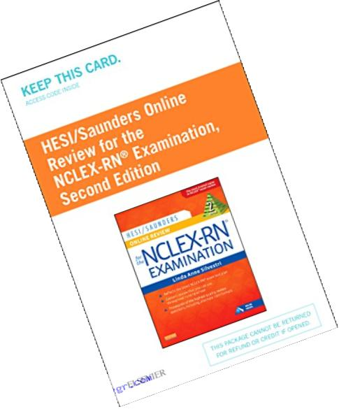 HESI/Saunders Online Review for the NCLEX-RN Examination (2 Year) (Access Code), 2e