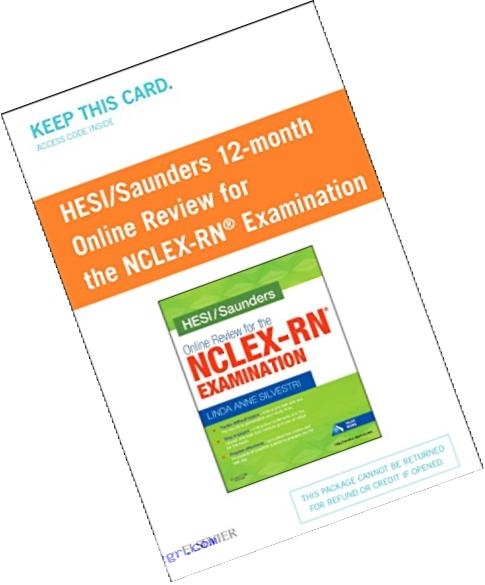 HESI/Saunders Online Review for the NCLEX-RN Examination (1 Year) (Access Card), 1e
